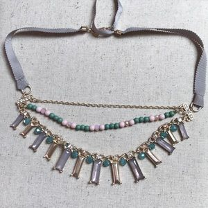 LOFT Necklace with ribbon
